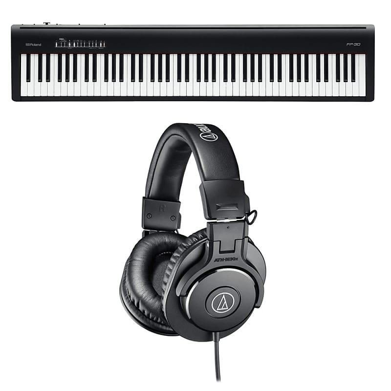roland fp 30 digital piano audio technica ath m30x reverb. Black Bedroom Furniture Sets. Home Design Ideas