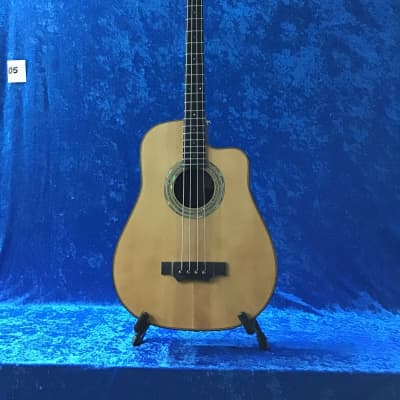 Emerald Bay  Hand made acoustic dreadnought cutaway 4 string bass for sale
