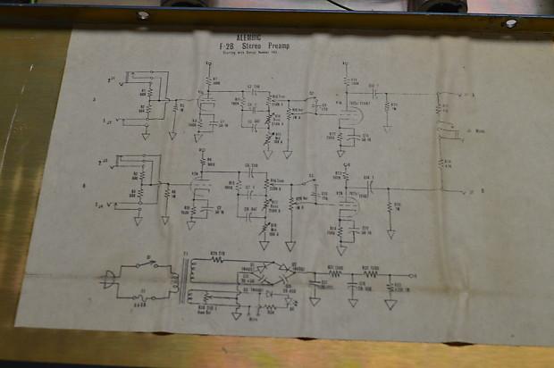 Vintage Alembic F-2B Vacuum Tube Preamp 100% Original Fully Functioning on