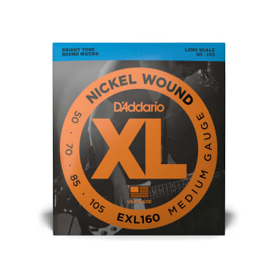 D'Addario EXL 160 Set of  Long Scale Electric Bass Strings 50-105