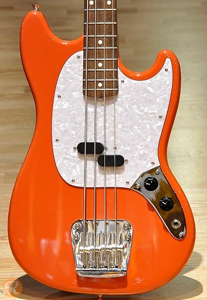 Fender Mustang Bass MIJ 1995 Dakota Red Price Guide | Reverb  Fender Mustang ...