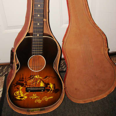 1956 Roy Rogers Harmony H600 Parlor Guitar Orig Case PLAYER for sale