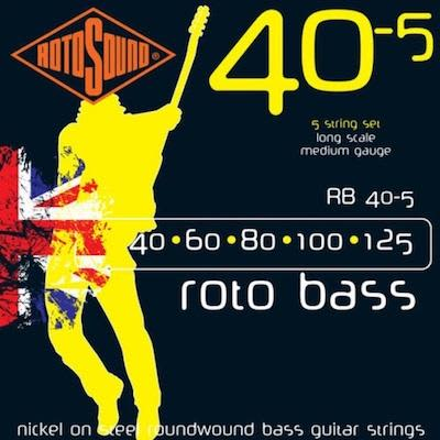 Rotosound Roto Bass Strings RB (5 String Set) RB40-5  40 - 125
