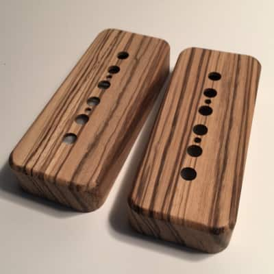 Guilford Zebrawood P-90 Pickup Covers - 2 Covers - Fits Seymour Duncan/ PRS -USA  Natural Wood