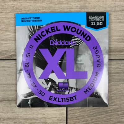 D'Addario EXL115BT Nickel Wound Electric Guitar Strings, 11-50, Balanced Tension Medium