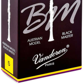 Vandoren CR185T Black Master Traditional Bb Clarinet Reeds - Strength 5 (Box of 10)