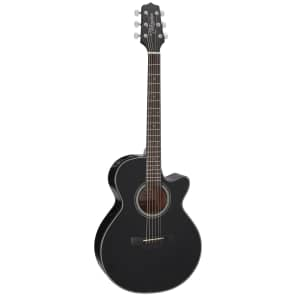 Takamine GF15CE BLK G15 Series FXC Concert Cutaway Acoustic/Electric Guitar Gloss Black