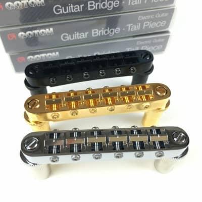 GOTOH Tune-O-Matic bridge GE103B-T Saddle T Electric Guitar Bridge For LP SG for sale