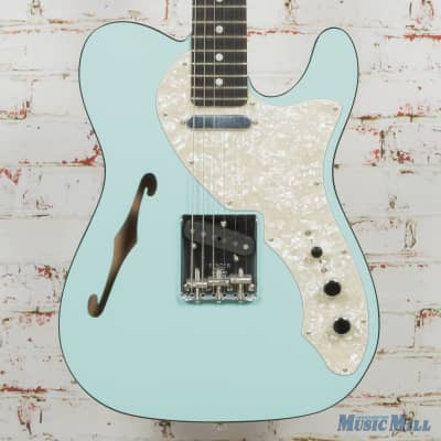 Fender Two-Tone Telecaster Thinline Daphne Blue Ebony Fretboard (USED)