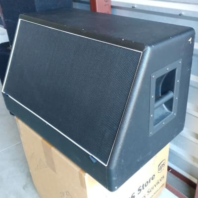 Mojotone Slammins angled 2x12 cab with pair of Tone Tubby Alnico red speakers 2012 black for sale