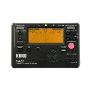 Korg TM-50C BK Combo Tuner/Metronome w/ CM-200 BK Clip-On Mic