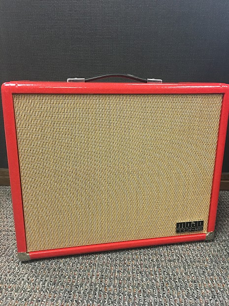 Mojotone Lite 1 x 12 Extension Cabinet in Red Sparkle w/ British Tan Grill  Cloth (Reverb Exclusive)