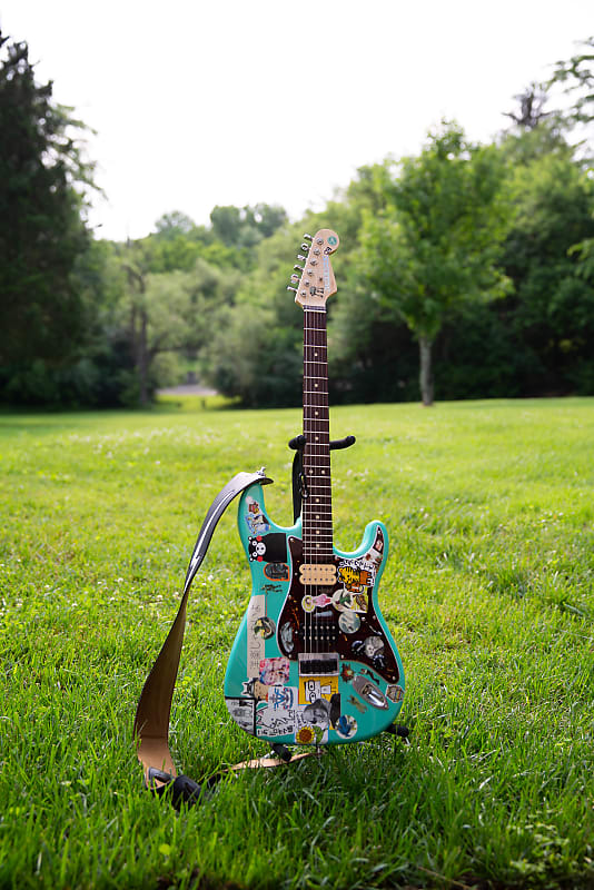 rivers cuomo stratocaster copy warmoth partscaster seafoam reverb. Black Bedroom Furniture Sets. Home Design Ideas