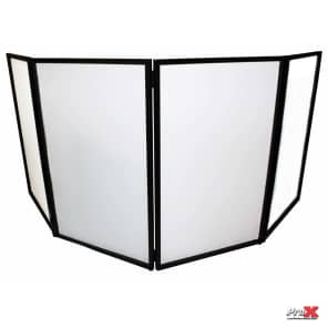 ProX XF-4X3048B 4 Panel Aluminum DJ Booth with LED Facade and Bag