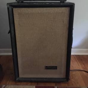 Silvertone Model 1463 Solid State Bass 35 1x15 Piggyback