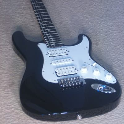 S101/ASC Fat Strat Style Electric Guitar-(BLACK)(H-S-H) Pickup Config./