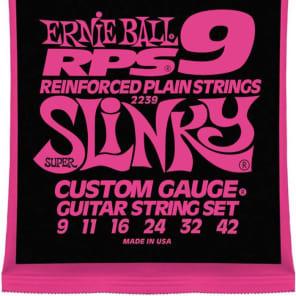 Ernie Ball 2239 RPS Super Slinky Reinforced Plain Guitar Strings 9-42
