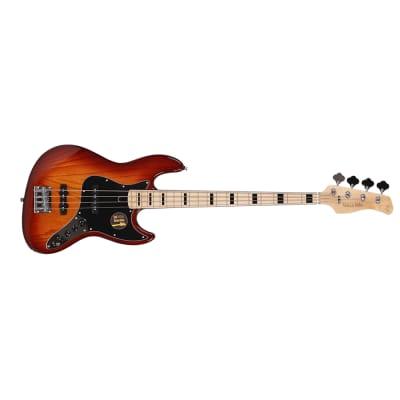 Sire Marcus Miller V7 Vintage 2nd Gen Bass 4-String Ash TS Tobacco Sunburst, Bag