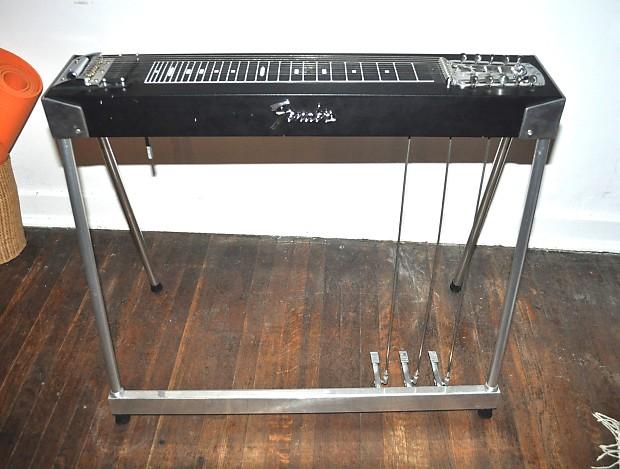Fender Student S10 Pedal Steel Guitar Black 3x1 1975 Reverb