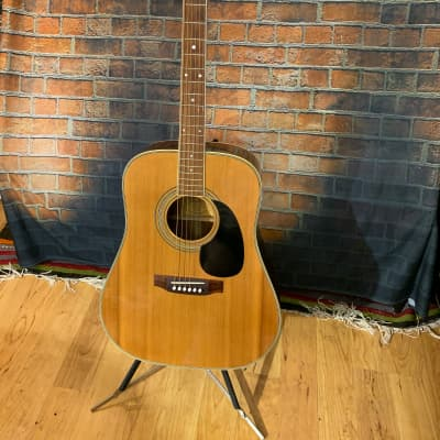 Lyle W-400 1970's Made In Japan Lawsuit Era Acoustic Guitar - Natural for sale