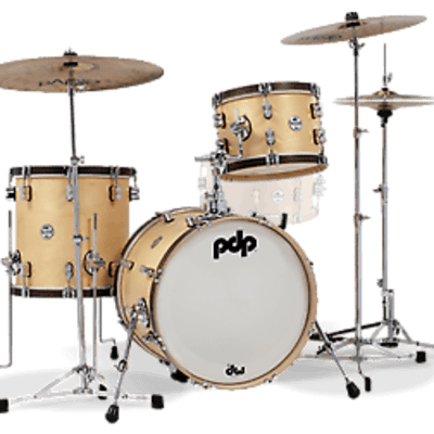 PDP Concept Series Classic Wood Hoop 3 Pc. Bop Kit Drum Set, FREE Pair of Zildjian Sticks