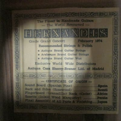 Hernandis  Garcia  Classical Guitar Buyer's Guide (pamphlet) with 40,000 readers on Ebay for sale