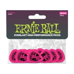 Pack of 12 P09194 Ernie Ball Everlast 1.14mm Guitar Picks Pink