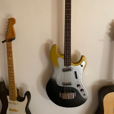Melody Shortscale Bass 1969 Gold/Silver/Black Sparkle for sale