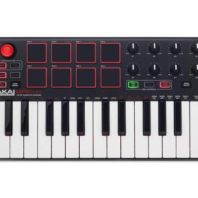 Akai Professional MPK Mini MKII | 25-Key Portable USB MIDI Keyboard With 16 Backlit Performance-Ready Pads 8-Assignable Q-Link Knobs & A 4-Way Thumbstick