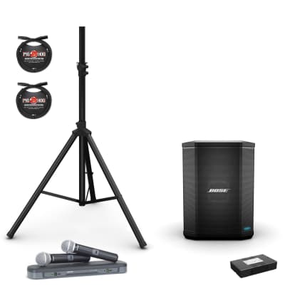 Bose S1 Pro Multi-Position PA System kite w/ S1 Battery Pack, Shure BLX288/PG58 Dual Wireless