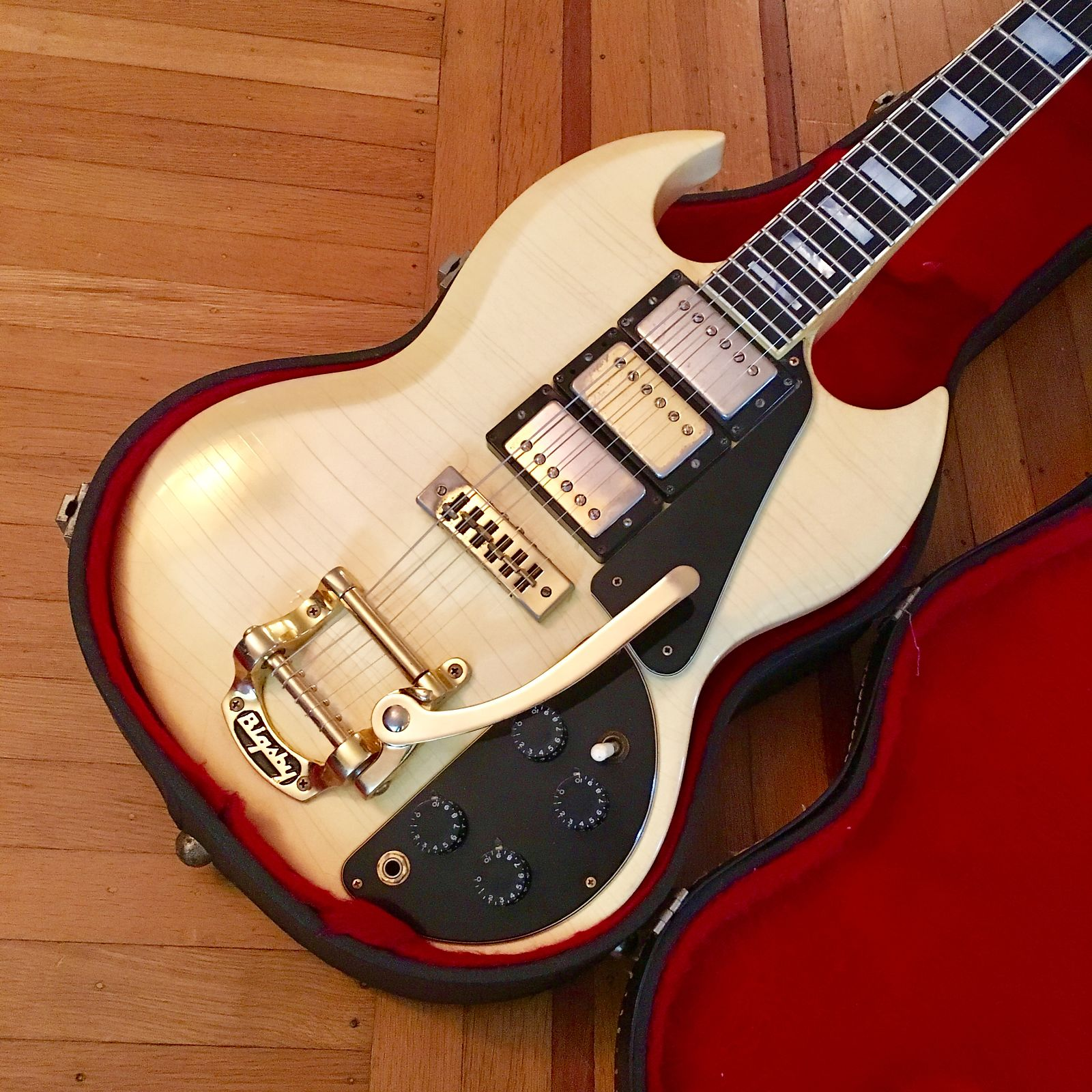 Gibson SG Custom 3 pickup c 1974 Polaris White original vintage usa ...