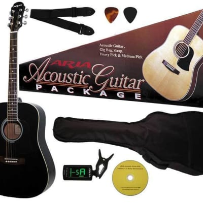 Aria Prodigy Series Acoustic Guitar Package Multiple Colours Available for sale