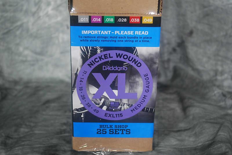 25 Complete Sets D/'Addario EXL115-B25 XL Guitar Strings Bulk Sets 11-49 Gauge
