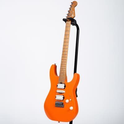 Charvel Pro-Mod DK24 HSH Electric Guitar - Caramelized Maple, Satin Orange Crush for sale