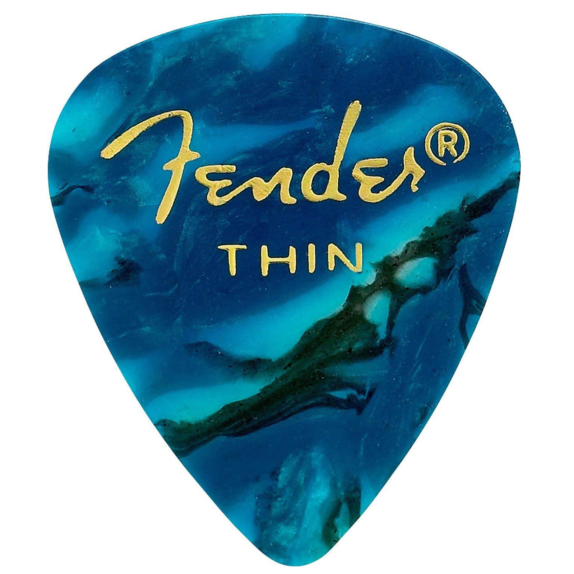 Fender 351 Pick Pack (12) Ocean Turquoise Thin
