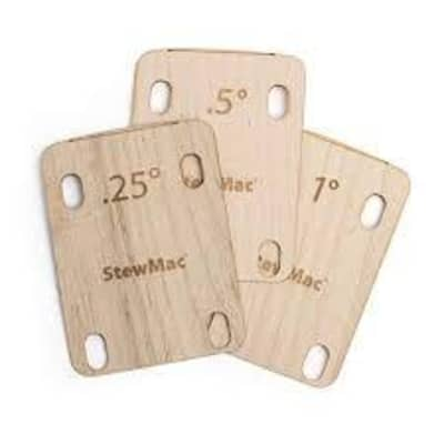 StewMac Neck Shim 1 Degree - Maple - for bolt-on necks - Universal for sale