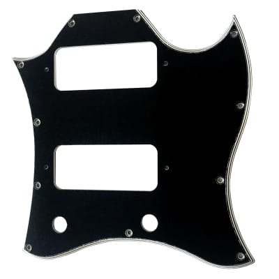 For 5-Ply SG Full Face Style With P90 Humbucker Guitar Pickguard Scratch Plate, Black