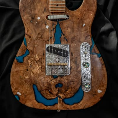 Telecaster Relic Special Art Design - Inspire by Landscape of the Pyrenees for sale