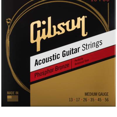 Gibson Phosphor Bronze Acoustic Guitar Strings -.013-.056 Medium for sale