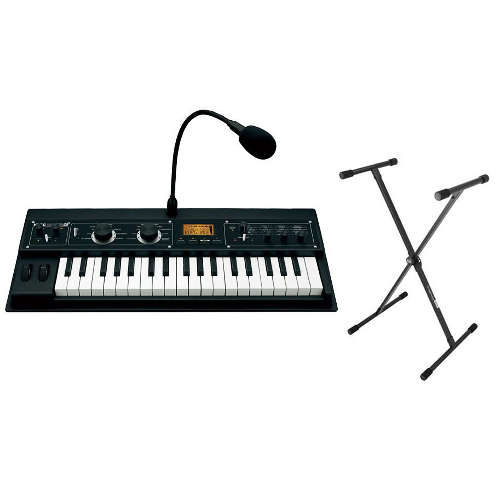 Korg MicroKorg XL+ Synthesizer & Vocoder w/Expanded PCM Bundle w/FREE  Keyboard Stand