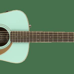 Fender California Series Malibu Player Acoustic Guitar Aqua Splash 0970722008 for sale