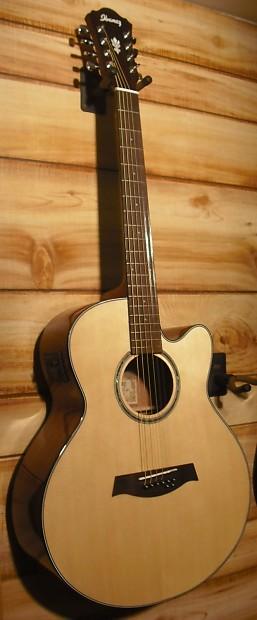 new ibanez ael108td 8 string acoustic electric guitar natural reverb. Black Bedroom Furniture Sets. Home Design Ideas