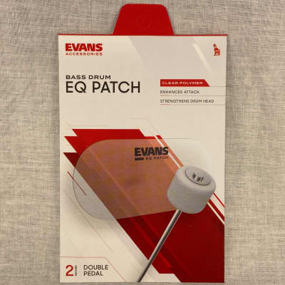Evans EQPC2 EQ Double Pedal Patch - Clear Plastic