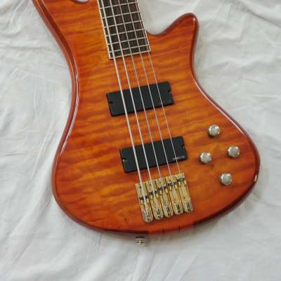2005 Schecter Diamond Series Stiletto Elite-5 5 String Electric Bass Honey Sunburst Hipshot Upgrade for sale