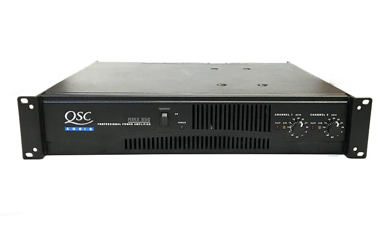 qsc power amplifier rmx 850 gcpawn reverb. Black Bedroom Furniture Sets. Home Design Ideas