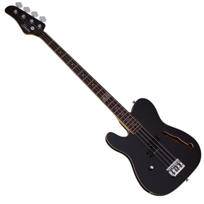 Schecter Signature dUg Pinnick Baron-H Left-Handed Electric Bass Gloss Black for sale