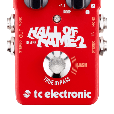 TC Electronic Hall of Fame 2 Reverb Effects Pedal with Shimmer & MASH Technology