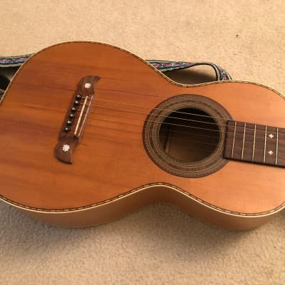 Antique 1890s Bay State Parlor Acoustic Guitar for sale