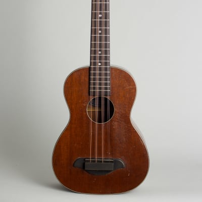 S. S. Stewart Tiple made by Nicola Turturro c. 1926 mahogany stain finish, grey chipboard case. for sale