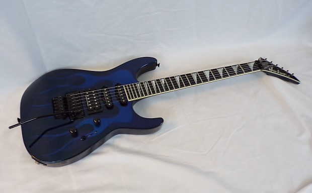 jackson usa sl1 soloist 1999 blue ghost flames with case reverb. Black Bedroom Furniture Sets. Home Design Ideas